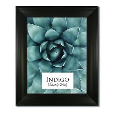 One 12x16 Metro Black Picture Frame with Clear Glass and Backing