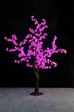 5ft height pink Led Simulation Cherry Blossom Tree Wedding Christmas Light New