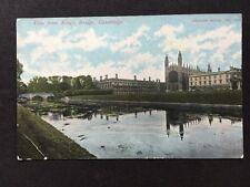 Vintage Postcard - Cambridgeshire #11 - RP Kings Bridge - 1907
