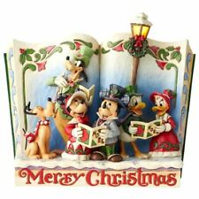 Disney Mickey Mouse Christmas Carol Merry Christmas Storybook Figurine