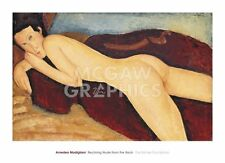 Reclining Nude from the Back, 1917 by Amedeo Modigliani Art Print Poster 26x36