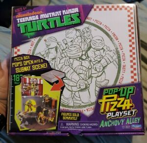 PLAYMATES NICKELODEON TMNT POP UP PIZZA PLAYSET ANCHOVY ALLEY