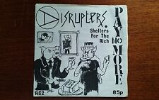 """DISRUPTERS -SHELTERS FOR THE RICH- 7"""" RARE UK ANARCHO PUNK!"""