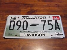 Tennessee License Plate, D90-75A with 2012 tag (FC - #823)