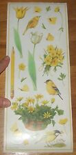 Marjolein Bastin NATURES GARDEN Retired BiG STiCKERS~COLORBOK Sheet~Birds~Flower