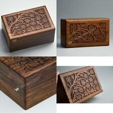 New listing Beautifully Handmade Tree Of Life Engraved Wooden Cremation Urns For Ashes Adult