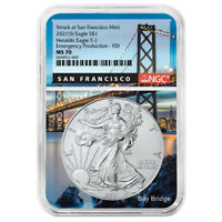 2021(S) ASE NGC MS 70 Bay Bridge Core First Day Of Issue Emergency Production