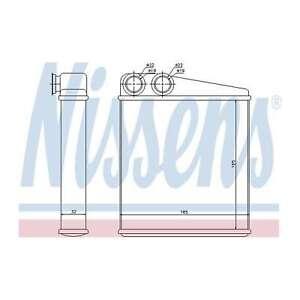 Fits Nissan Micra K12 1.2 16V Nissens Heat Exchanger Interior Heater Matrix