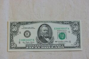 1977 Richmond $50 Dollar Bill Note FRN  2119E ~ Margin Error  Unc!!