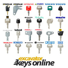 Pick any 6 Excavator Keys Mini Set Cat Komatsu Yanmar Kubota FREE POSTAGE