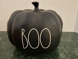 """NEW - Rae Dunn by Magenta - Black """"BOO"""" Pumpkin"""