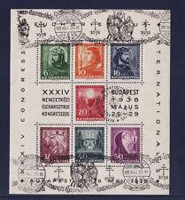 Hongrie  bloc  congrès eucharistique  1938  num: BF 2  oblitéré