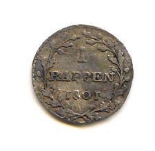 Suisse République Helvetique Napoleonide 1 Rappen 1801 KM A11