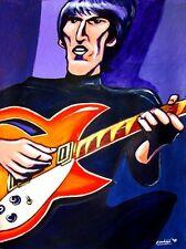 GEORGE HARRISON PRINT poster beatles songs cd all things must pass rickenbacker