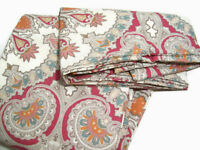 Pottery Barn Warm Valencia Paisley Cotton Full Queen Duvet Cover 2 Euro Shams