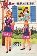 VINTGE 1970 MOTHER DAUGHTER PAPER DOLL LASER REPRO~Org SZ UNCuT FREE SH NO1 SELR