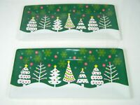"Christmas Trays Holiday Decor Serving Tray (SET 2) 16"" X 7"" Plastic"