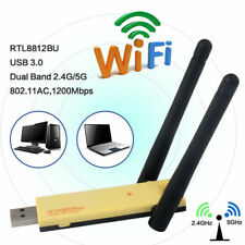 1200Mbps WiFi Adapter WLAN Stick USB3.0 Wireless Dongle DualBand Antennen #R