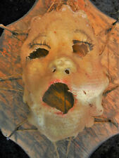 Skinned Human Face Nailed to Board Wall Art Ed Gein Oddity Creepy Macabre Decor