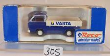 Roco 1/87 No. 1412 VW Volkswagen T3 Pritsche Varta OVP #305