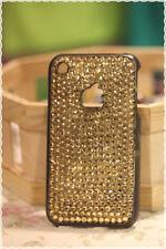 Cover rigida iphone 3-3gs strass oro applicati a mano colore base marrone