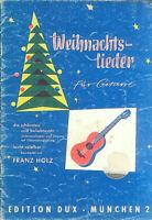 Franz Holz - Weihnachtslieder für Gitarre