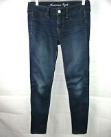 American Eagle Jeggings 4 x 30L Med Wash Stretch Skinny Blue Denim ~CUTE!