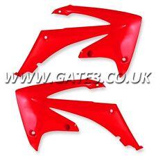 HONDA CRF450R CRF 450 R 2009-2012 RED RADIATOR RAD SCOOPS SHROUDS MX PLASTICS