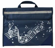SCHOOL KIDS Music notes MOTIF Bag Carry Case NAVY QUALITY GIFT PRESENT MUSICIANS