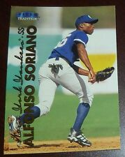 Alfonso Soriano 1999 Fleer Tradition Update Rookie Baseball Card RC Yankees Cubs