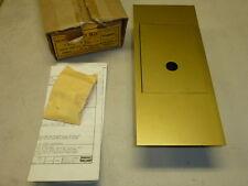 NOS! BOMER RECESSED KEY BOX, TYPE 501, FINISH: FL-1 (GOLDTONE)