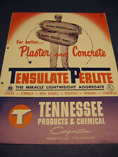 Tensulate Perlite 1952 Catalog Asbestos Tennessee Products & Chemical Corp.