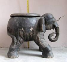 SURER RARE! Old Karen Hill Tribe Coconut Grater Stool Elephant Design