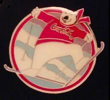 Coca Cola~Polar Bear~Pin Badge~1994: Lillehammer Olympics~Free Style Skiing