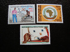 COTE D IVOIRE - timbre yvert et tellier n° 808 814 815 n** (A10) stamp
