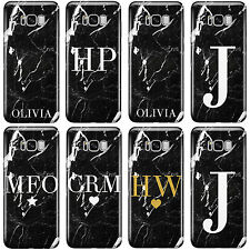 PERSONALISED NEW MARBLE INITIALS PHONE CASE COVER FOR SAMSUNG GALAXY PHONES 2