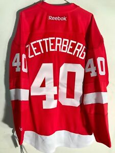Reebok NHL Replica Jersey Detroit Redwings Henrik Zetterberg Red sz LARGE