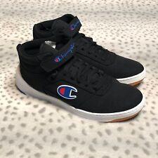 Champion Super C Court Mid Shoes Mens Size 10 Black Basketball Athletic