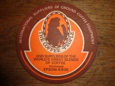 Beer mats coaster drip THE COFFEE PEOPLE INT SUPPLIERS EPSOM beer mat