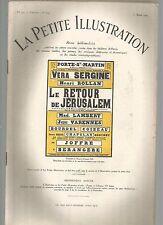 LA PETITE ILLUSTRATION N°224 - LE RETOUR DE JERUSALEM PIECE DE M. DONNAY - 4 ACT