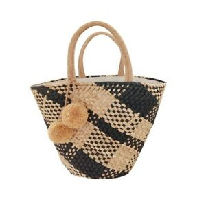Straw Bag Shoulder Tote Summer Beach Handmade Bag Totes Boho Rattan Bohemian