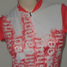 Sugoi Womens SMALL Sleeveless Orange White Coffee Cycling Triathlon Jersey Vest