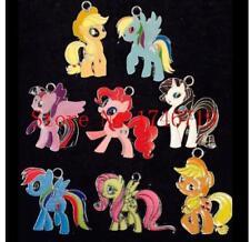 50pcs Cartoon pony Enamel Metal Charms Pendants DIY Jewelry Making P567