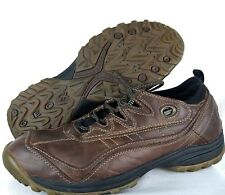 Geox Respira Brown Leather Casual Fashion Driver Sneaker Shoes Men's Size 12