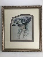 Harrison Fisher - May 1910 Ladies Home Journal Magazine Cover - Framed