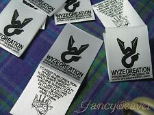 Custom 1000pcs Printed Satin Label (One Color Printing) for Clothing/ Sewing