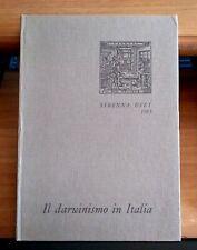 IL DARWINISMO IN ITALIA - STRENNA UTET 1983