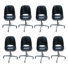 (8) Mid Century Modern Black Acrylic Adjustable Chairs (MR10551)