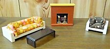 Vintage 1970's Fisher Price Dollhouse Fireplace Living Room