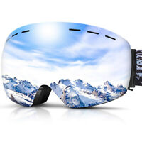 for Men/Women/Youth Skiing Goggles w/Spherical Lens, Anti-Fog&Helmet Compatible